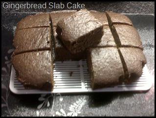 Ginger Slab Cake