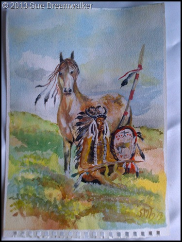 Watercolour Native American Indian 2013