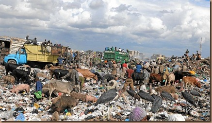 The Dandora dumping site in Nairobi. (Simon Maina, AFP)