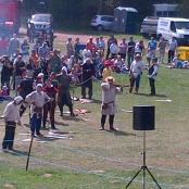 A competition of Longbow and Crossbow was had A fine display of archery skills from both men and women