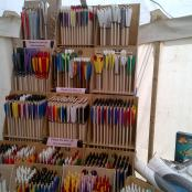 Hand Made Arrows with various coloured quivers
