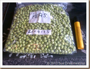 Freezing Peas