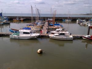 Inside the Harbour Walls in Bridlington