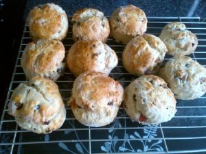 Fruit Scones with added cherries