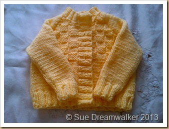 knitting Cardigan for my Granddaughter