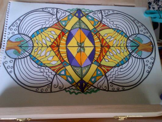 Mandala half completed. Click to find out more
