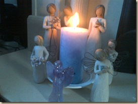 Blue candle Healing