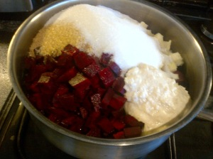 Making Beetroot chutney