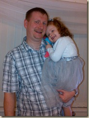 My Son and Granddaughter on her 3rd Birthday