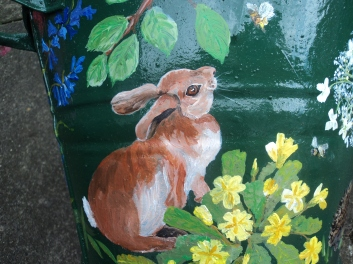 Rabbit with primroses