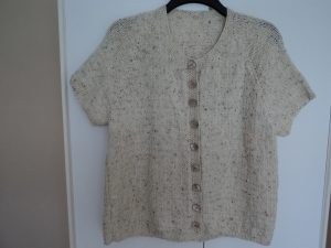 Knitted short sleeved Cardigan