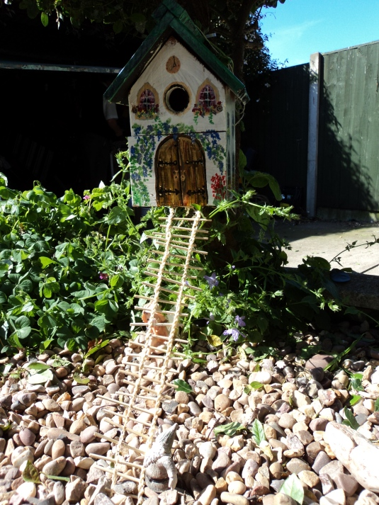 The Fairy House put up in the garden