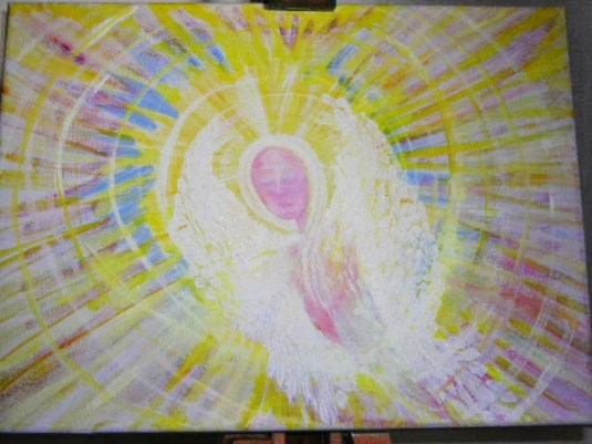 Rainbow Angel.. Some of my more abstract art
