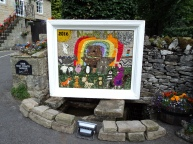 Children's Welldressing made by the village school chidren. This years theme is Noah's Ark