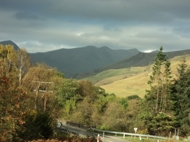 Travelling through the Trossachs in Scotland