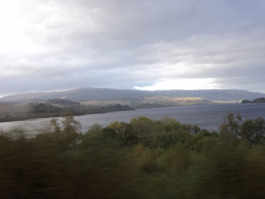 Travelling to Inveraray along the shores of Loch Fyne