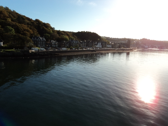 Oban shore line as we set sail on the Ferry. We went to the top deck to get the scenic views as it was such a wonderful morning