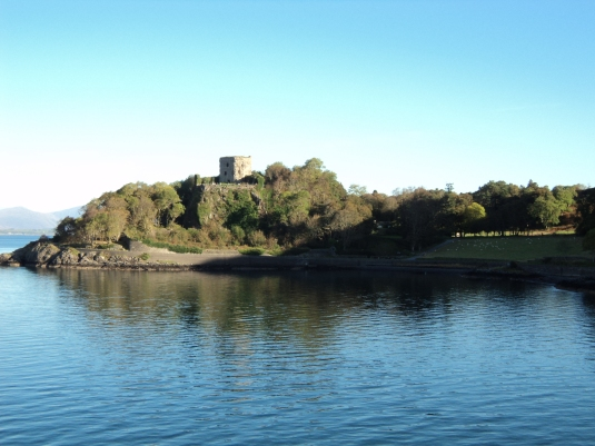 Dunollie Castle is built on the headland at the entrance to Oban Bay. This castle is visible as you sail into or out of Oban Bay, and is shrouded in the trees