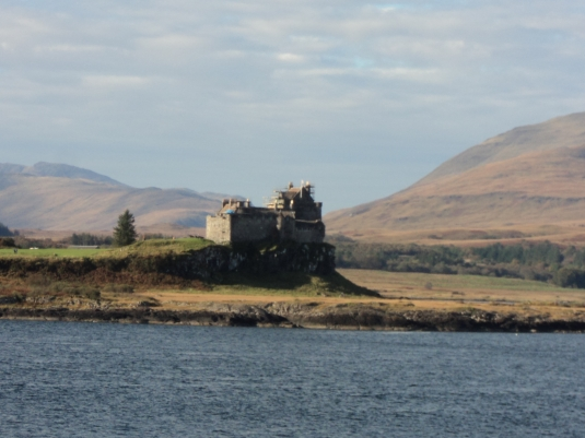 Another Zoom shot.. This is Duart Castle.. more of which I will explain about the scaffolding below.