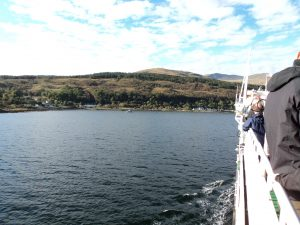 Every one looked towards the shores of Mull as we got closer to the Ferry Port.