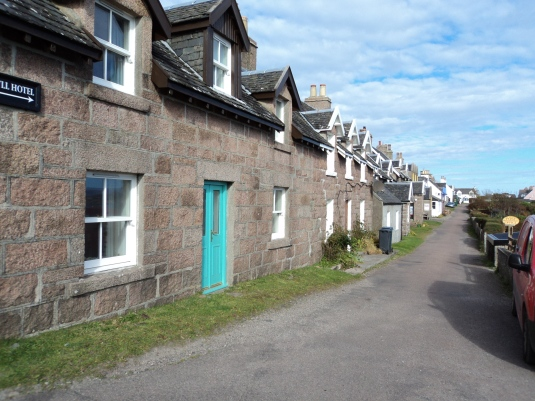 We walked up from being dropped off by the ferry past this row of houses which overlook the shore line