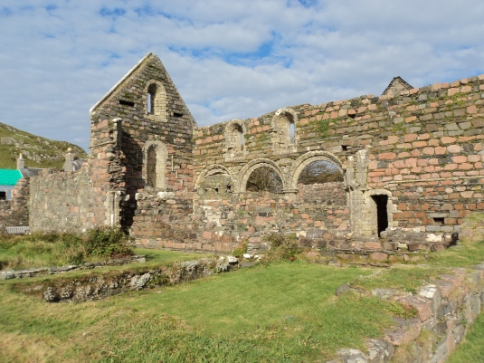 Here you can see the ruins of the Nunnery and the The pink granite walls that remain, despite being ruinous, are amongst the best examples of a medieval nunnery left in Britain.
