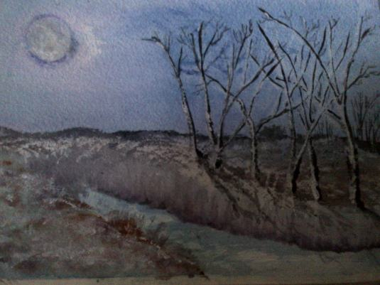 Moon and Silverbirch